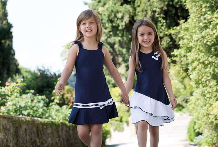 Blue navy and white cotton clothes
