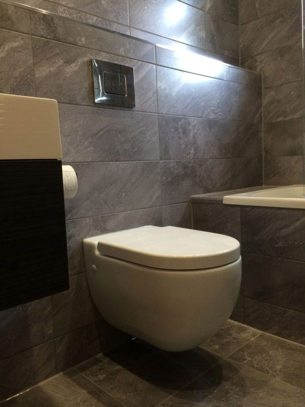 The Awesome Web Wall Hung Toilet for a Bathroom Installation in Leeds a project by UK Bathroom Guru