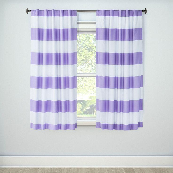"Lavender (Purple) Twill Rugby Light Blocking Curtain Panel (63""x42"") - Pillowfort"