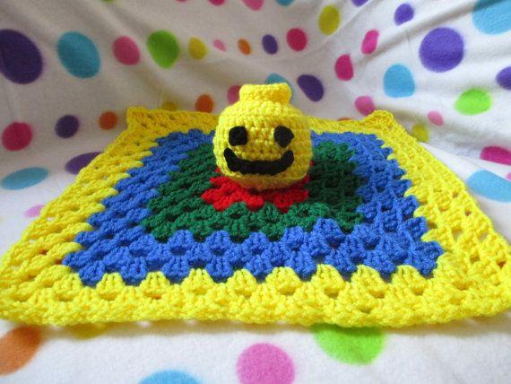 Crochet Lego mini fig head inspired lovey