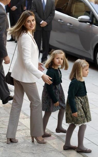 HRH Letizia Princess of Asturias with Infanta Leonor & Infanta Sofia
