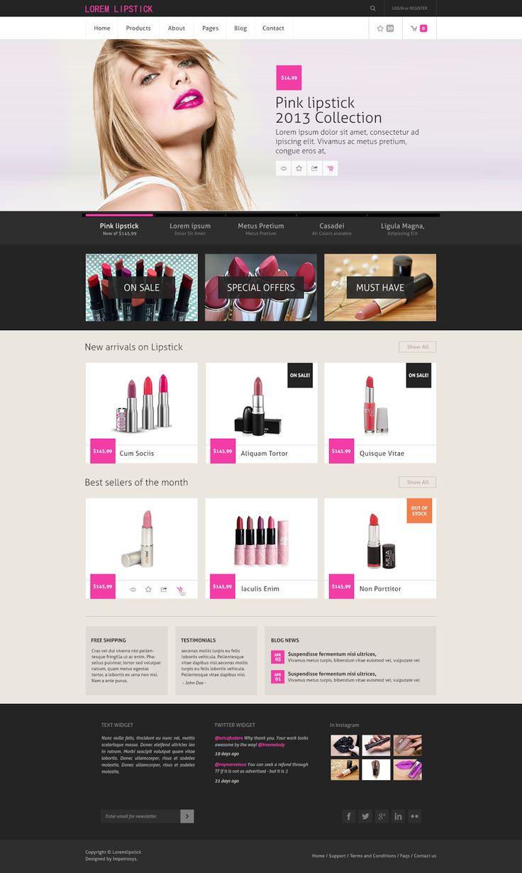 Creative Designs Idea: Lipstick Online Shopping Site Design Idea