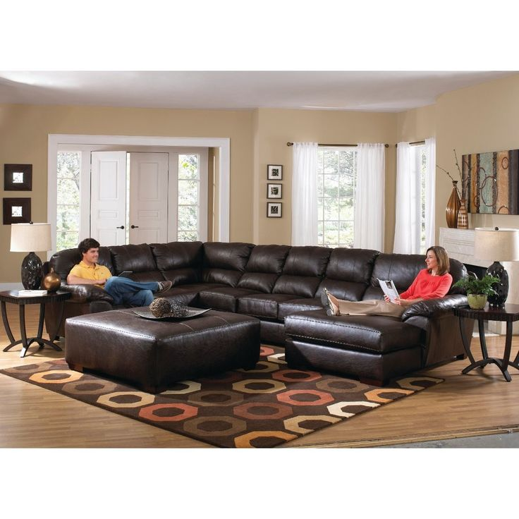 Lawson Living Room - RSF Chaise, LSF Sectional, Armless Sofa, & Cocktail Ottoman - Sectional (4243LAWSONMID) | Conn's