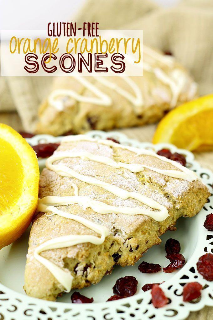Gluten-Free Orange Cranberry Scones // thehealthymaven.com