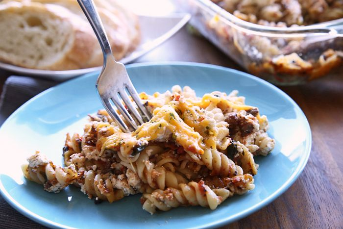 A cross between Baked Ziti and Lasagna, this Easy Lasagna Casserole is a new favorite and uses leftover Amazing Spaghetti Sauce. You will love this family friendly recipe. Everyone will Rave! #lasagnabake #bakedziti #lasagna #cheese #familyfriendlydinner #mealplanning #menuplanning #kidfriendly #Casseroles #budgetfriendlyrecipes #easy #dinnerideas ~ https://reallifedinner.com