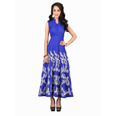 Winsome Blue Art Silk Kurti