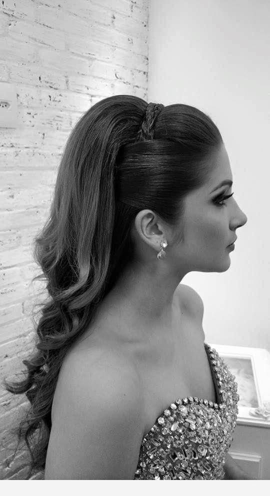 Hairstyle in black and white #braidedhairupdos
