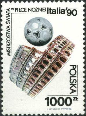Znaczek: FIFA World Cup 1990 - Italy (Polska) (FIFA World Cup 1990 - Italy) Mi:PL 3268,Sn:PL 2969,Yt:PL 3073,Pol:PL 3120