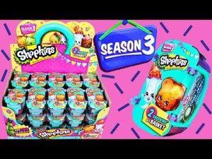 60 SHOPKINS Season 3 Toys Surprise Full Case of 30 Baskets unboxing