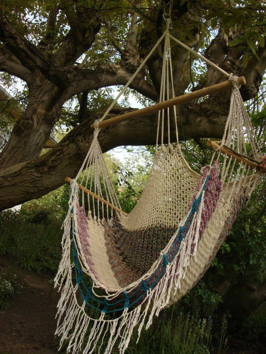 Macreme swing for the avocado tree in the yard! Macrame