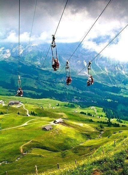 #scenery #winter #mountains #sky #summer #forest #beauty #funicular