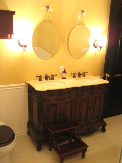 Great small double sink vanity