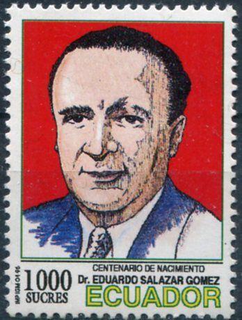Eduardo Salazar Gomez - Ecuador 1996 Francobolli Medicina - Personaggi famosi - Famous People - Medicine Stamps