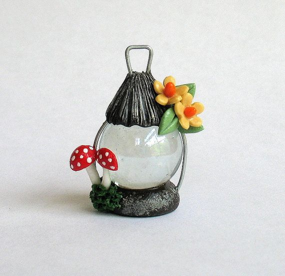 Miniature Fairy Lantern by artisticspirit. I love this artist's work, she is truly amazing!