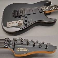 CASIO PG-380 PG380 Black Guitar Synthesizer MIDI Out Used Excellect++ Rare