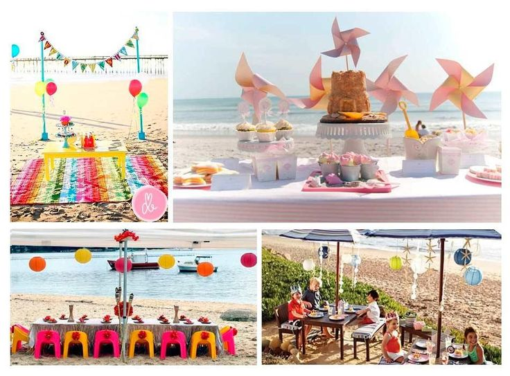 consejos para celebrar una fiesta infantil en la playa