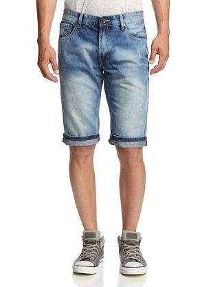 56% OFF X-Ray Men's Denim Scuffed Shorts (Denim)