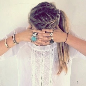 braid(:: French Braids, Double Braid, Hairstyles, Makeup, Beautiful, Rings, Side Ponytail, Hair Style, Ponies Tail