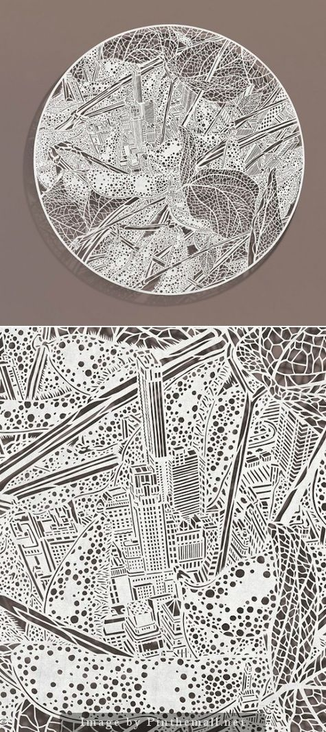 Pittsburgh's Bovey Lee transformed a single sheet ofChinese xuan (rice) paper into a world of detail and wonder. - Read about it at http://www.paperspecs.com/bovey-lee/