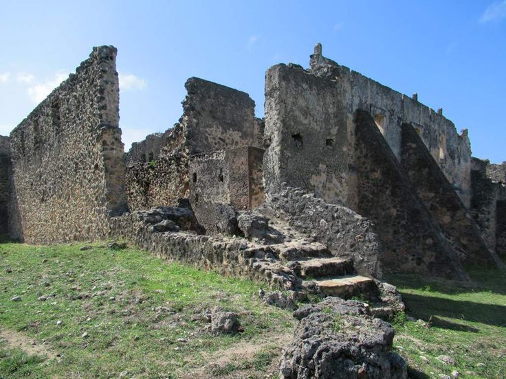The Makutani Palace was a stronghold of the Omani sultans who controlled Kilwa Kisiwani, Tanzania, in the 18th century.