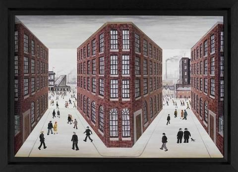 Match Day, by John Wilson #art #football #factory #Lowry #3D
