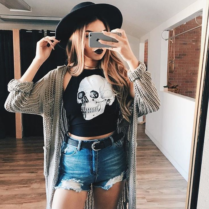 impressive edgy outfits for spring girl