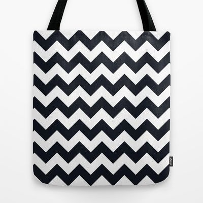 Chevrons Black & White Tote Bag by Julie's Thingummies - $22.00