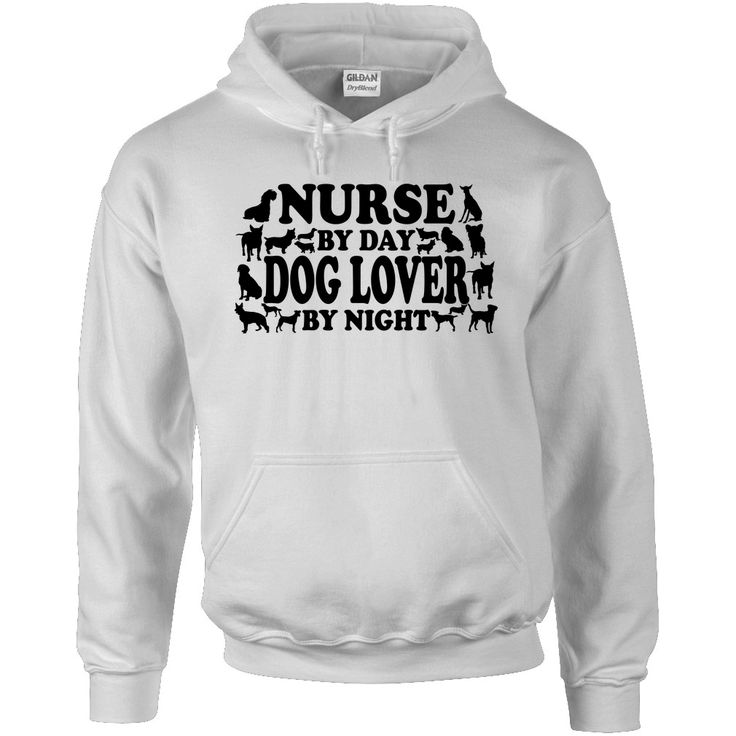 Nurse by day Dog lover by night - Hooded Shirt