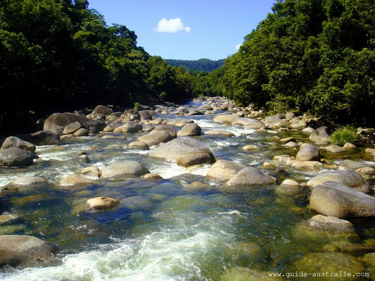 Mossman Gorge, located in the southern part of Daintree National Park, 80 kilometres north of Cairns, Queensland, Australia