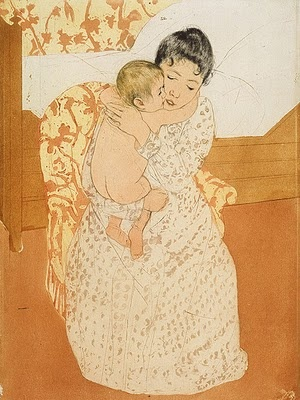 Maternal Caress by Mary Casset