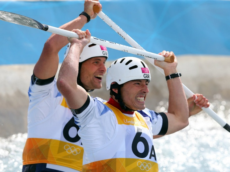 There was silver too for Team GB in the  two-man canoe slalom as David Florence and Richard Hounslow finished second.
