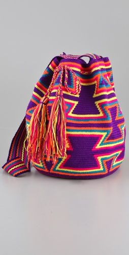 Love the vibrant colors in this handmade bag
