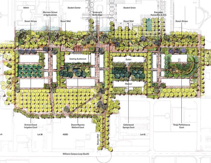 Arizona state university polytechnic campus new academic for Mesa landscape architects