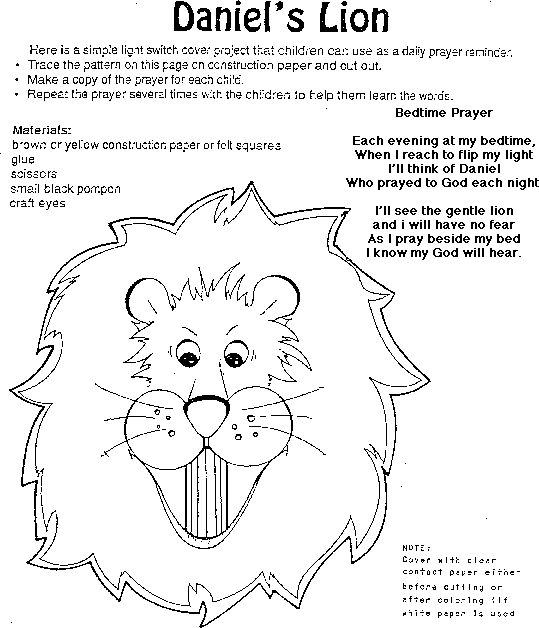 "House of Hugs ""Daniel in the lion's den"" Coloring Page"