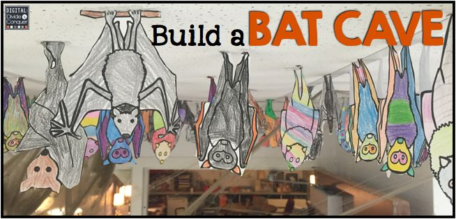 Turn your classroom into a bat cave with this simple little activity.      1. Have your students draw bats hanging upside down.  Some b...