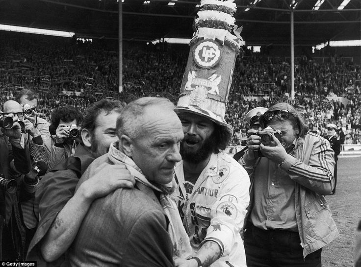 Liverpool Football Club manager Bill Shankly receives the praise of jubilant fans after FA Cup winning, Liverpool's 6-5 defeat (after penalt...