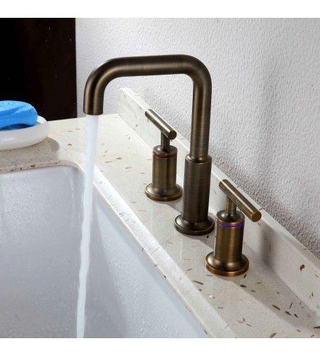 Robinet lavabo multi trou en laiton style ancien | salle de bain en ...