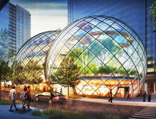 Sphere-Shaped Offices For Amazon Seattle / NBBJ