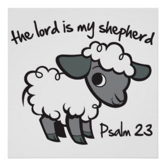 Cute little lamb! Christian Poster for kids - Psalm 23