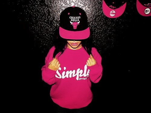 chicago, Bulls, simple, red, pink, cap, snapback, girl ...