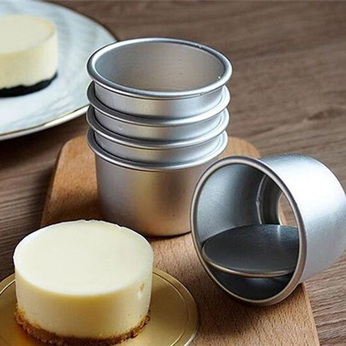 Deluxe 5X Round Mini Cake Pan Removable Bottom Pudding Mold DIY Baking Tools #happymall2013us