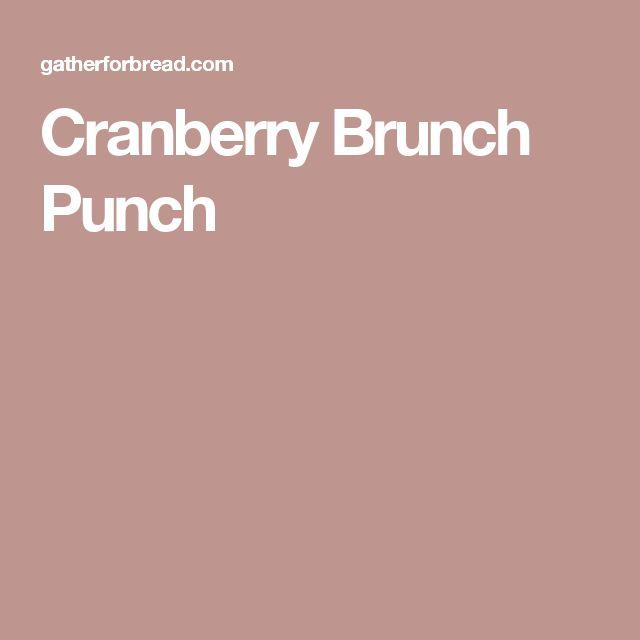 Cranberry Brunch Punch