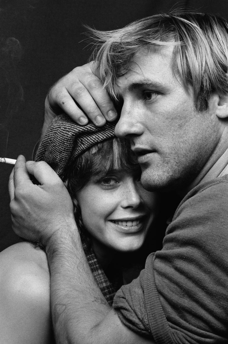 Gerard Depardieu and Sylvia Kristel