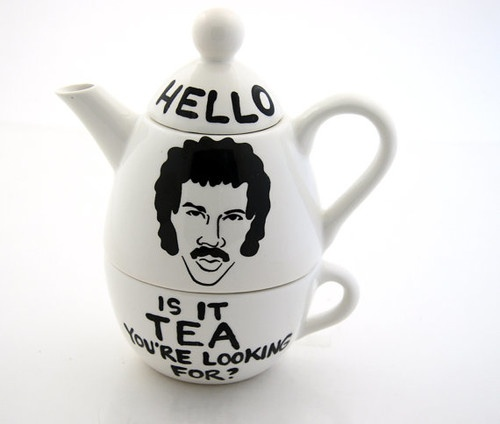 Hello Lionel Richie Ritchie Is it Tea Teapot by Lenny Mud - eclectic - coffee makers and tea kettles - - by Etsy