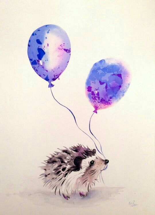 ♡☆ Beautiful Hedgie Watercolor ☆♡