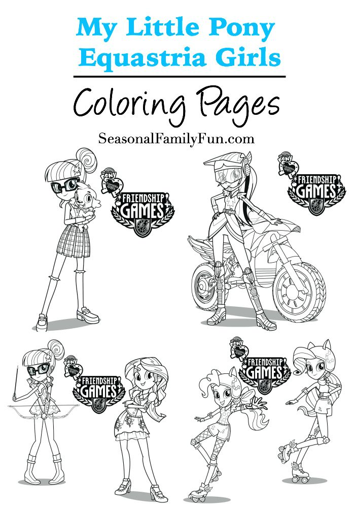 Equestrian girls coloring pages mylittlepony for My little pony legend of everfree coloring pages