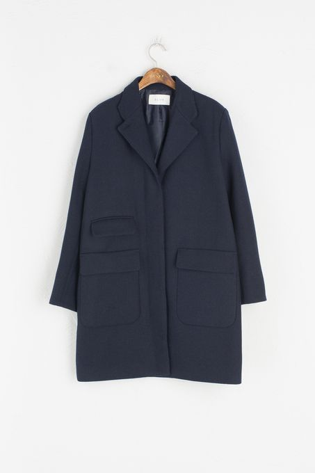 Big Two Pocket Detail Coat, Navy