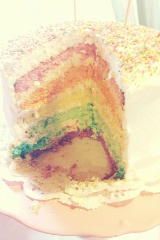 Rainbow Cake - Cumple Milita