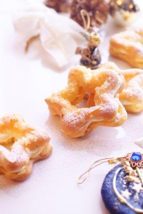 「星形のシュークリーム」ぽんのすけ | お菓子・パンのレシピや作り方【corecle*コレクル】