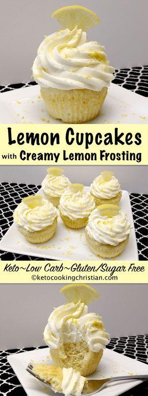Lemon Cupcakes with Creamy Lemon Frosting – Keto, Low Carb & Gluten/Sugar Free